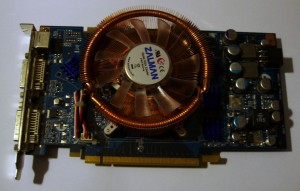 GeForce 7950GT + Zalman VF900-CU LED installed