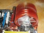 Установленный процессорный кулер (перекрытие слота памяти)