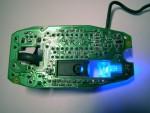 Genius NetScroll+ Mini Traveler Плата с синим светодиодом. Вид снизу